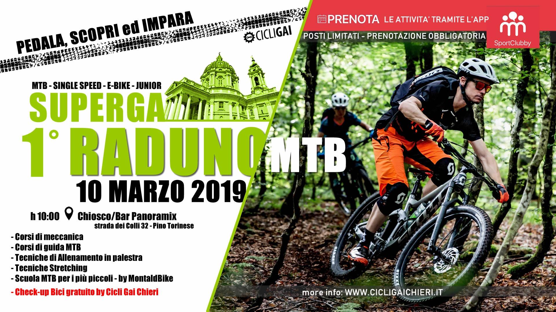 Domenica 10 Marzo 2019 Raduno MTB a Superga
