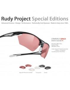 Occhiali Rudy Project STRATOFLY LTD Black 3Pack Edizione Speciale V2