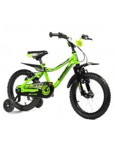 Bicicletta Bimbo Kawasaki KBX 16'' Eta' dai 4 ai 5 Anni - col Verde