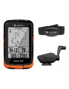 Ciclocomputer GPS Bryton Rider 530T con Navigazione + Sensori Vel/Cad e Fascia Cardio