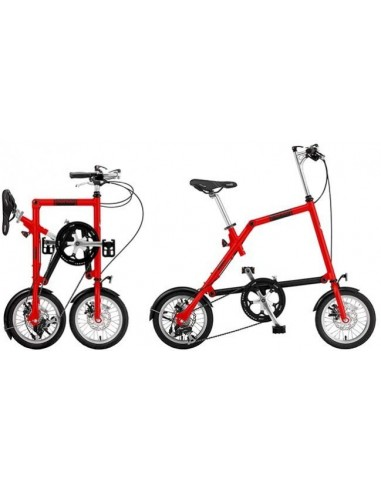 NANOO FB 12 Rosso Bici Pieghevole in Alluminio