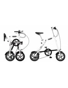 NANOO FB 12 Bianco Bici Pieghevole in Alluminio