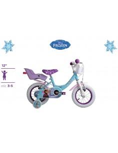 Bicicletta FROZEN Originale Disney ruote 12 con cuscinetti a sfera Eta' 3-4 Anni