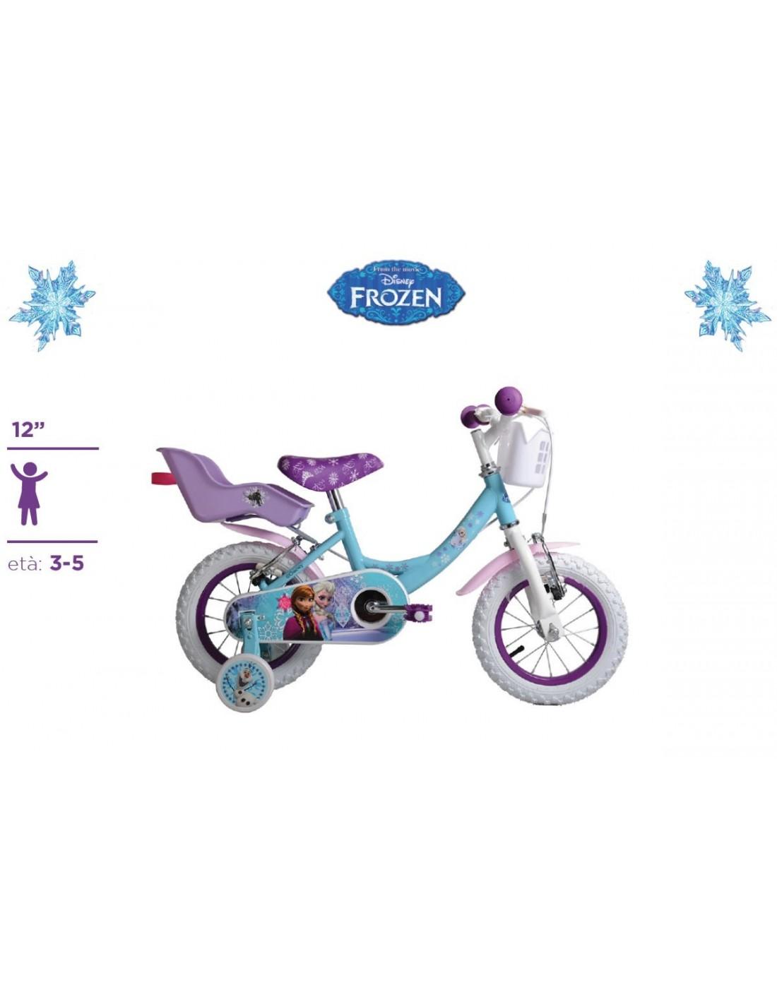 Bicicletta Frozen Originale Disney Ruote 12 Con Cuscinetti A Sfera Eta 3 4 Anni