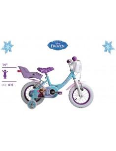 Bicicletta FROZEN Originale Disney ruote 14 con cuscinetti a sfera Eta' 4-6 Anni