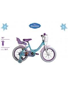 Bicicletta FROZEN Originale Disney ruote 16 con cuscinetti a sfera Eta' 5-7 Anni