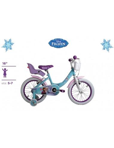 Bicicletta Frozen Originale Disney Ruote 16 Con Cuscinetti A Sfera Eta 5 7 Anni
