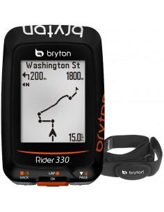 Bryton Rider 330H Ciclocomputer GPS Navigatore con Fascia Cardio- Novita'