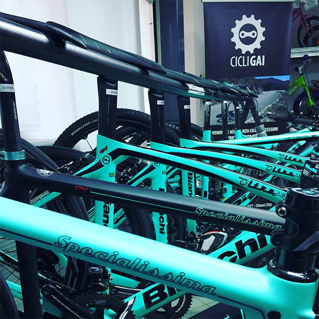 Veduta interna negozio Cicli Gai