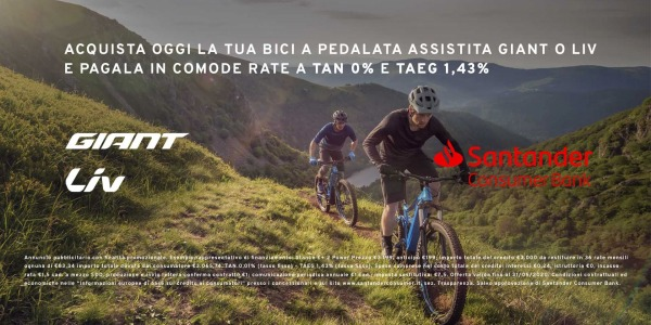 Acquista la tua nuova E-Bike Giant in comode rate a Tasso Zero!